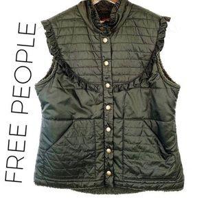 Free People Ruffle Bib Vest